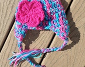 Baby Girl Earflap Hat FREE SHIPPING in United States