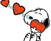 Sweet Dog w/ Hearts - crochet graph pattern