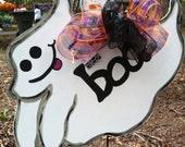 Boo Ghost Door Hanger Halloween Holidays Fall