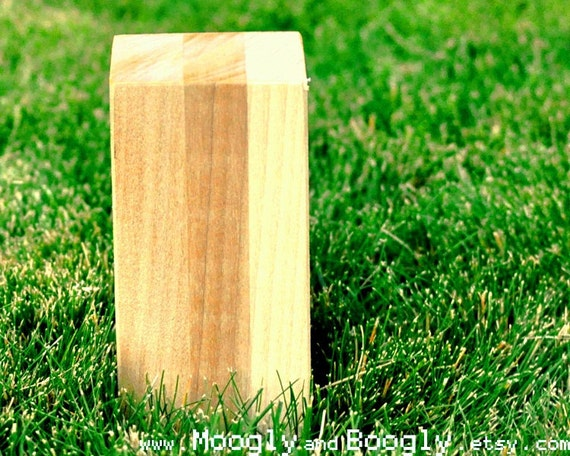 "Reserved for moonmunchie: Regulation Size Kubb - 6"" Tall"