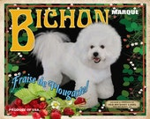 Bichon Frise Small Wooden Crate