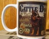 Australian Cattle Dog Crate Label Coffee Mug