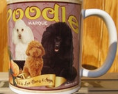 Poodle Crate Label Coffee Mug