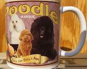 Poodle Crate Label Coffee Mug