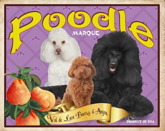 Poodle Small Wooden Crate