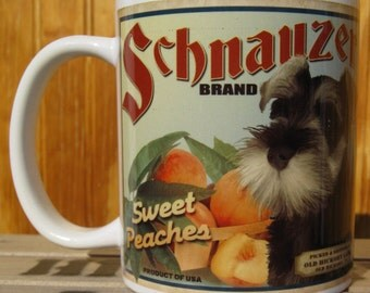 Miniature Schnauzer Crate Label Coffee Mug