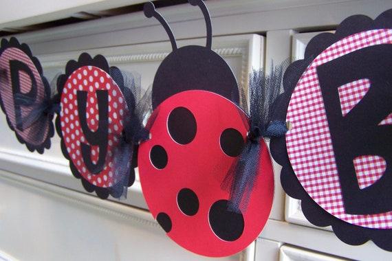 Ladybug Banner: Happy Birthday