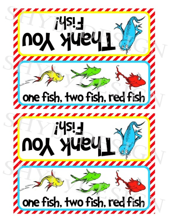 Printable Thank You Fish Baggie Toppers By Shydesign On Etsy