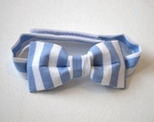 Baby bow tie blue white stripe nautical sailor cute toddler boys smart formal neck tie wedding kids accessories boy suit outfit pastel
