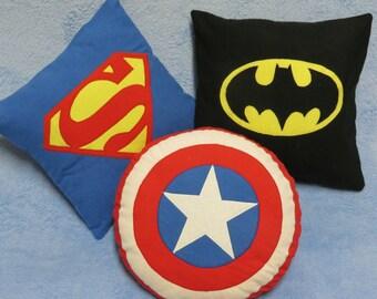 Super hero toss pillow