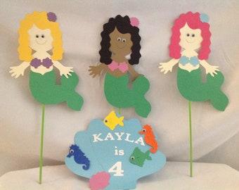 Mermaid Party Centerpiece Picks