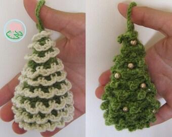 Amigurumi Christmas Trees Ornaments (2 designs) - PDF pattern (Digital Download)