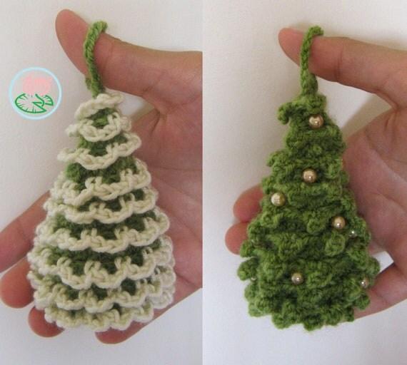 Amigurumi Christmas Trees Ornaments 2 Designs Pdf Pattern
