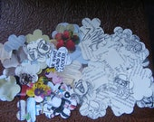 100 Flower Paper Punch Outs