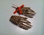 Halloween Skeleton Hand Hair Clip