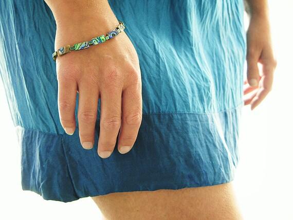 Iridescent Abalone Bracelet. Exotic Abalone Jewelry - UK Shop - LAST ONE