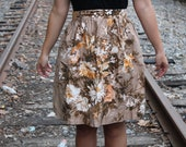 Brown Floral Apron- Lord and Taylor CLEARANCE