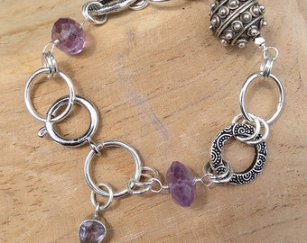 Sterling Silver Purple Rain Bracelet
