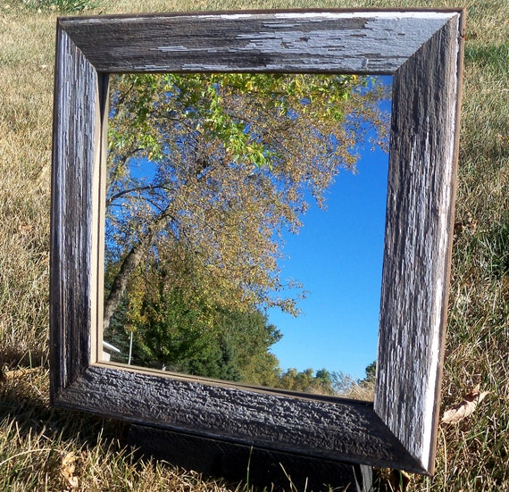 "Barnwood Framed Mirror -  11 1/2"" x 11 1/2"""