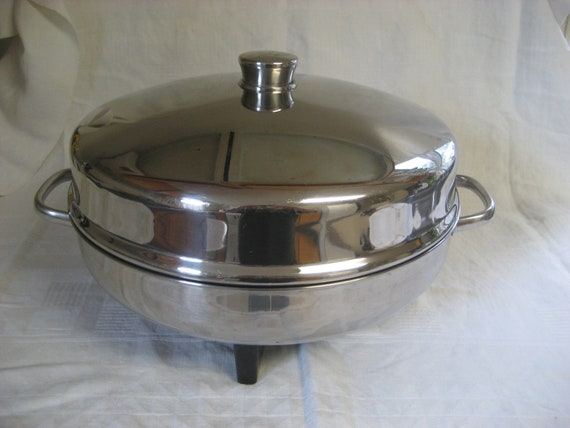 Farberware 12 Inch High Dome Stainless Steel Electric Frying