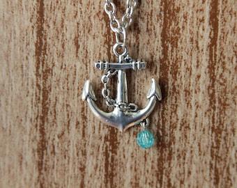 Anchor Necklace - Antique Silver - Nautical