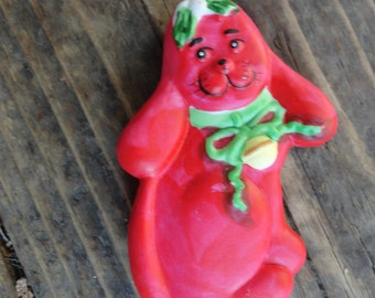 vintage ceramic dog with long floppy ears  ornament