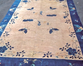 Antique Chinese Vintage Butterfly Rug Very Cool