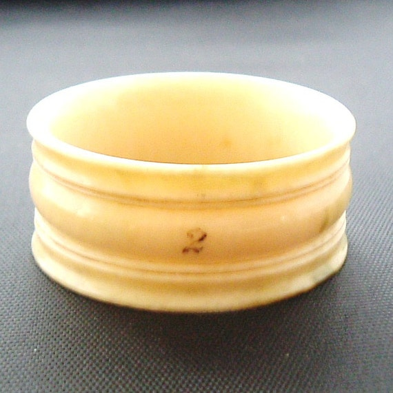 Antique Ivory Napkin Ring Pre Ban