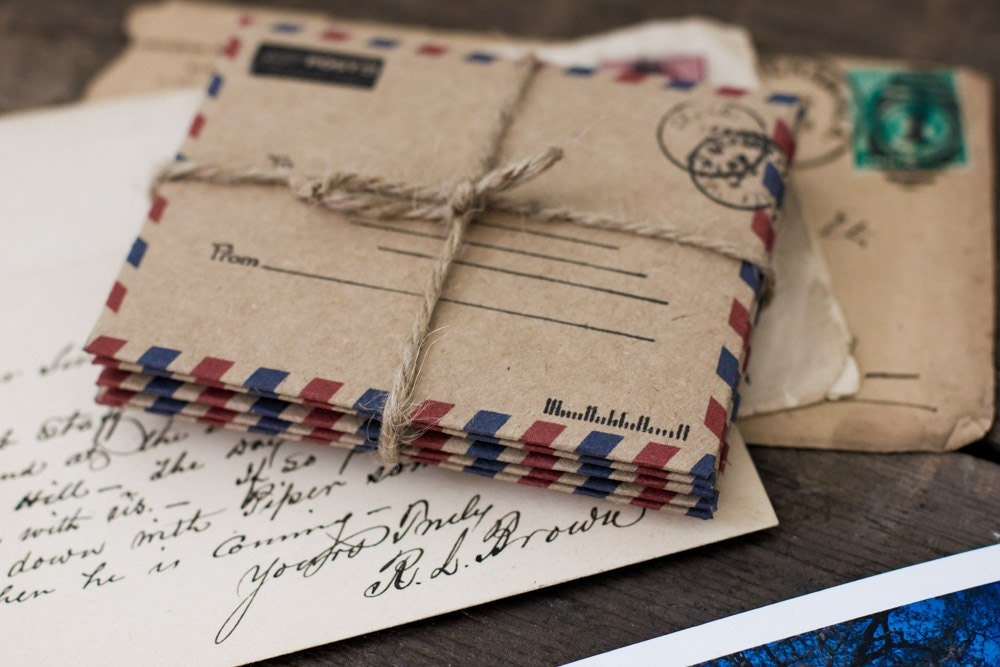 Airmail Wedding Invitations: Airmail Envelopes Stationery Paper Goods Rustic Office