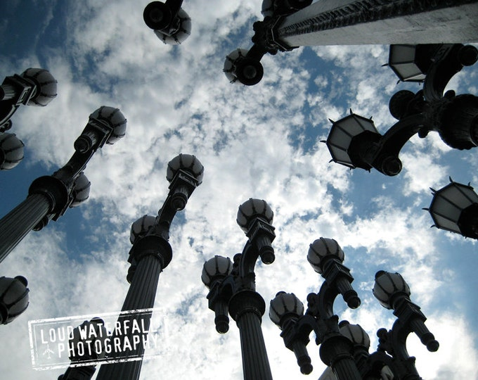 Urban Light, LACMA Public Art, Lamp Posts, Los Angeles 8x10 Fine Art Photograph