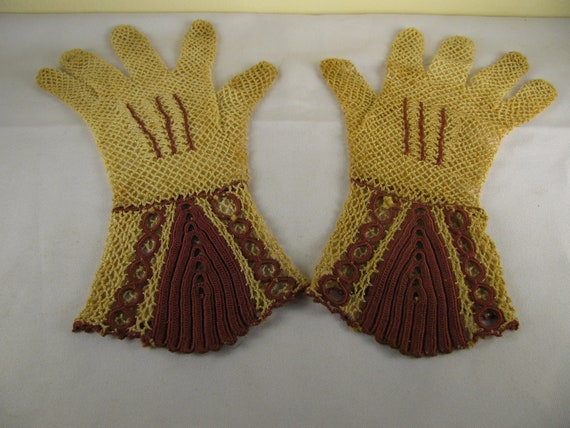 Most Unusual Vintage Crocheted Gloves