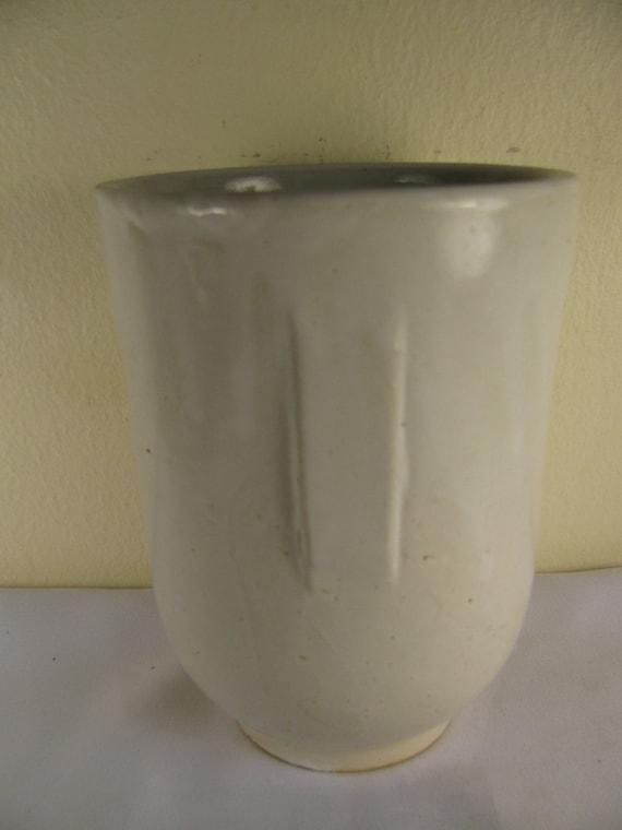 Vintage Art Deco White Pottery Vase