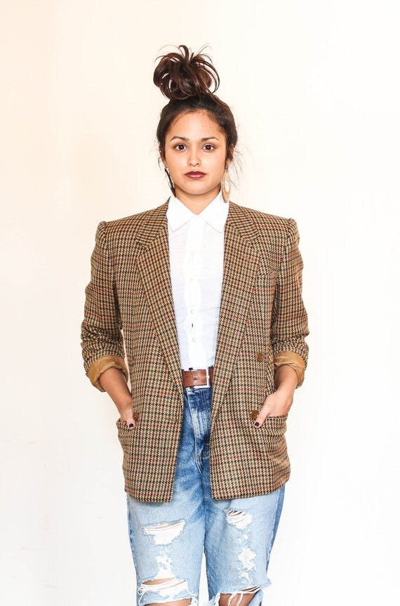gucci cashmere fitted tan blazer s-m