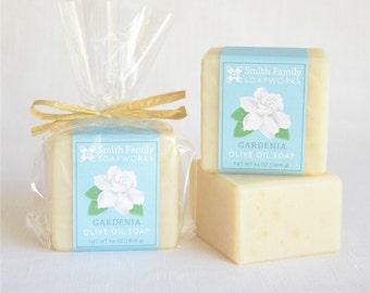 Gardenia Soap -  Handmade Soap, Olive Oil Soap, Natural Soap Bar, Cold Process Soap