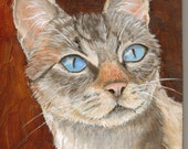 """CAT PAINTING Original Oil Painting  ACEO Cat Art Siamese """"Free Shipping"""""""
