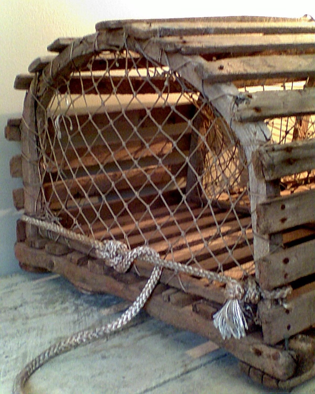 Reserved Old Wooden Maine Lobster Trap