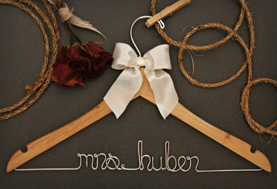 Wedding Dress Hanger by Whiskey & Wedding Bells