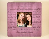 Best Friend Picture Frame Poem Quote Custom Personalized
