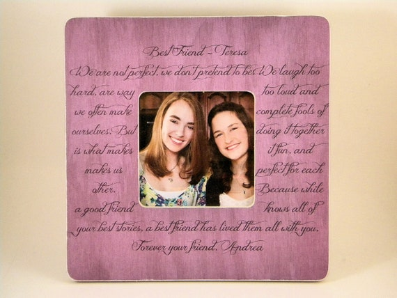 Items Similar To Best Friend Picture Frame Poem Quote