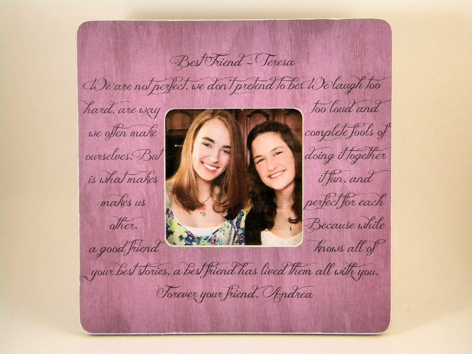 Friendship Quotes For Picture Frames : Items similar to best friend picture frame poem quote