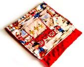 Yee Haw - Burp Cloth with red minky