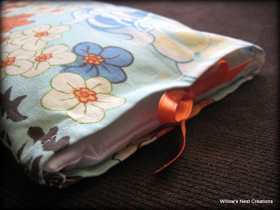 Medium Aromatherapy Pillow - Natural Flax Seed Heating/Cold Pad - Asian Design