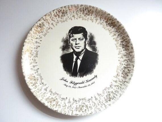 Vintage John F Kennedy Plate 9 1 4 Diameter Serving