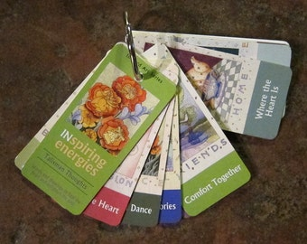 Talisman Thoughts - Mini-Affirmation Cards on Keyring