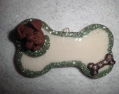 Polymer Clay Dog -Personalized Dog Ornament/Gift