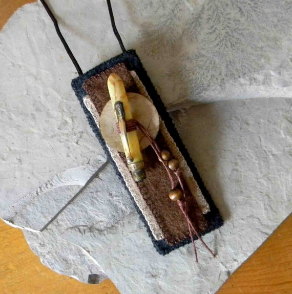 Secret Writing -  Poem Keeper / Fiber Necklace / Secret Keeper / Inspiration