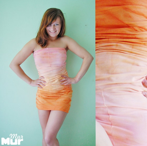 Pink dessert - hand dyed mini dress/murMur