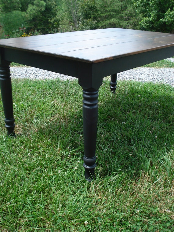Black dining table custom dining room tables on by kkfurniture for Dining room tables etsy
