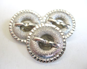 Silver Buttons set of three