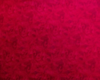 Bright Red misty Illusions print from Choice Fabrics